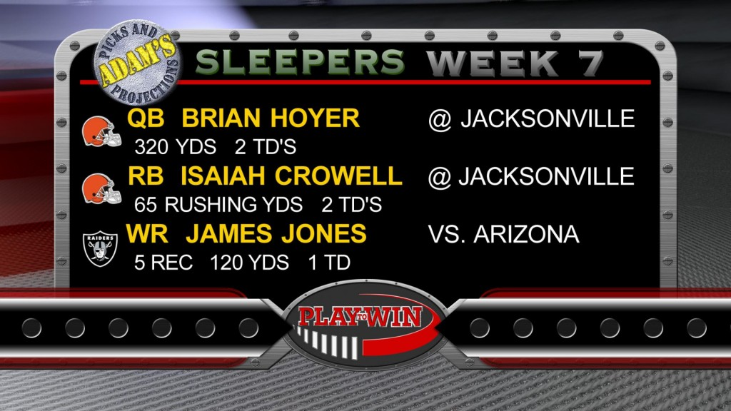 10-18 SLEEPERS WEEK 7