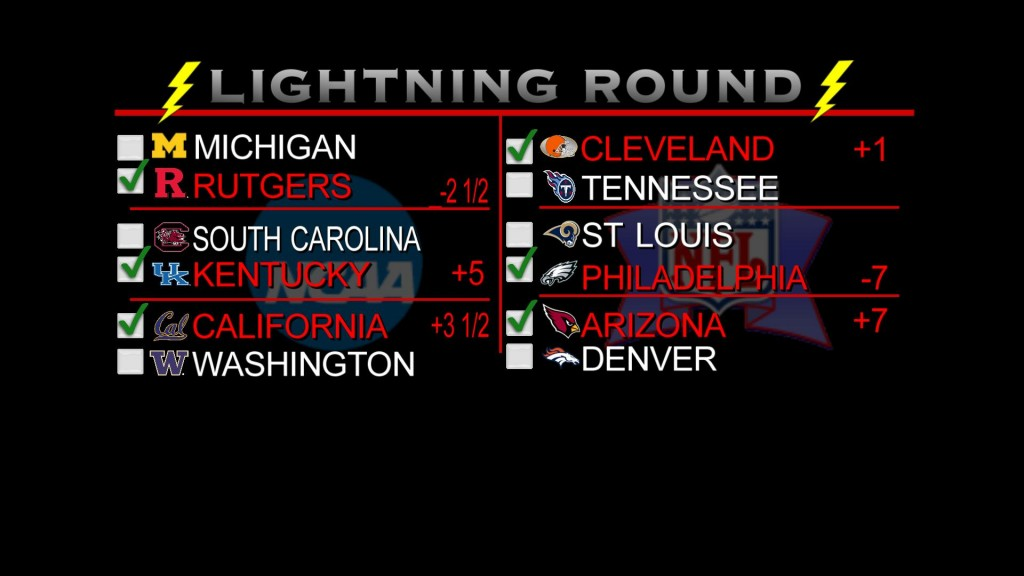 lightning round picks