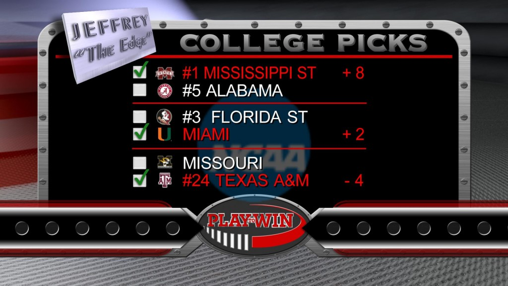 11-15 college picks