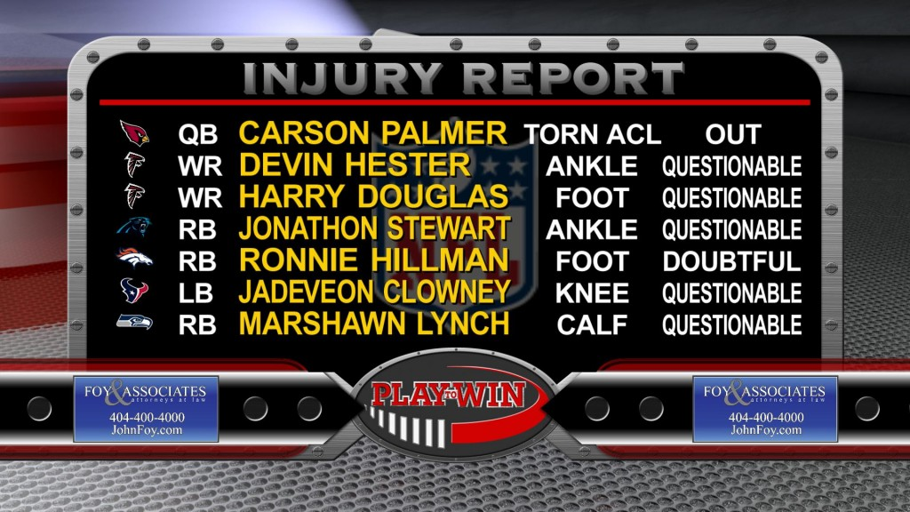 11-15 injury report