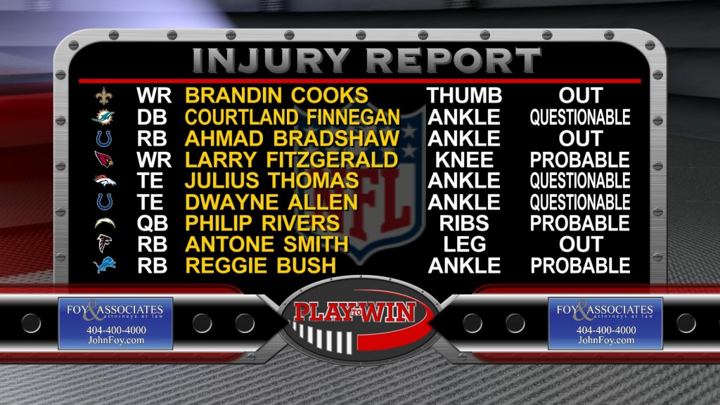 11-22 INJURY REPORT