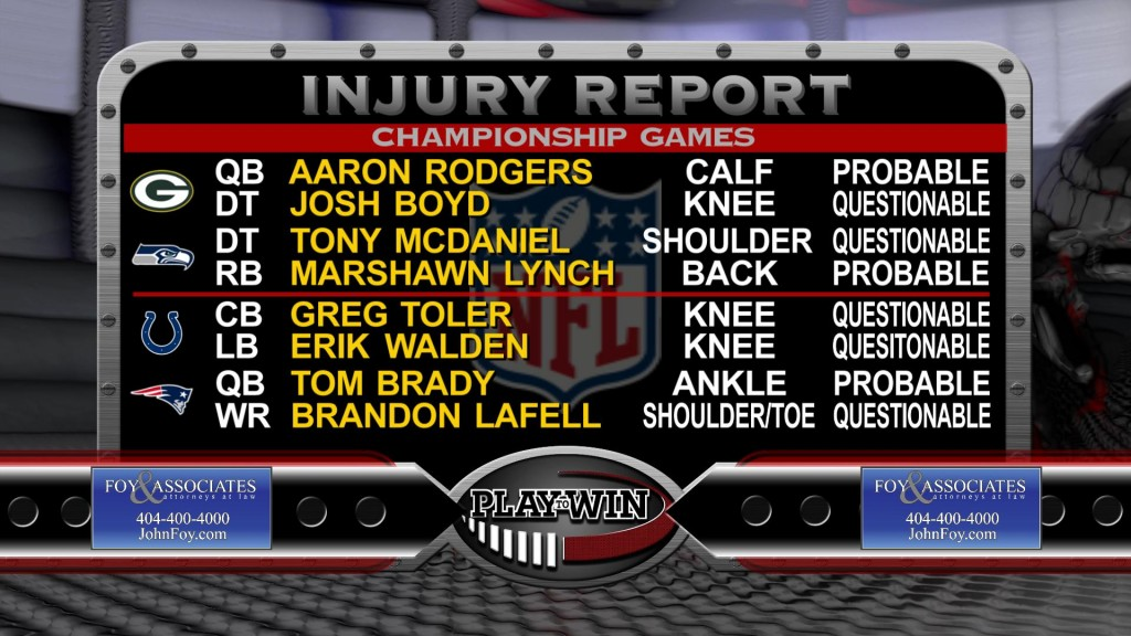 1-17 INJURY REPORT