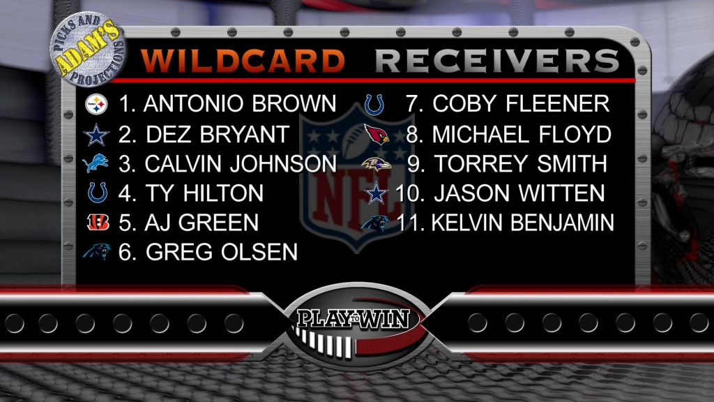 1-3 wildcard receivers