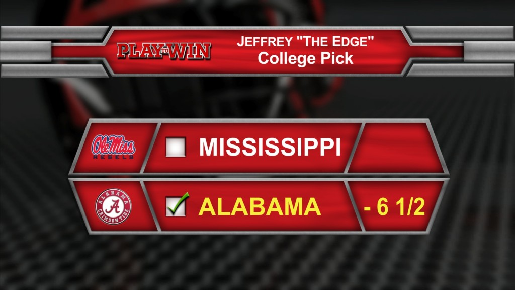 Jeffrey's College pick 1