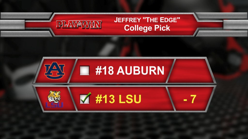 Jeffrey's college pick 2