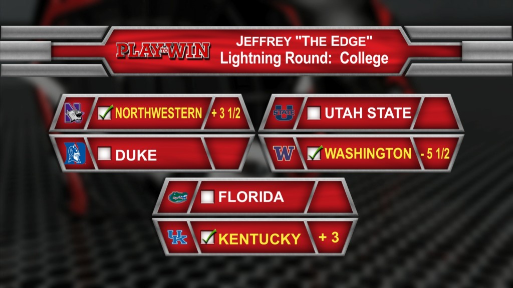 Lighning round picks college
