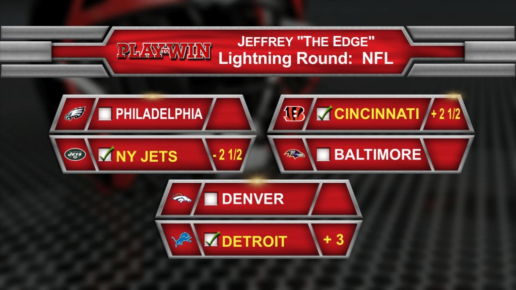 lightning round NFL picks