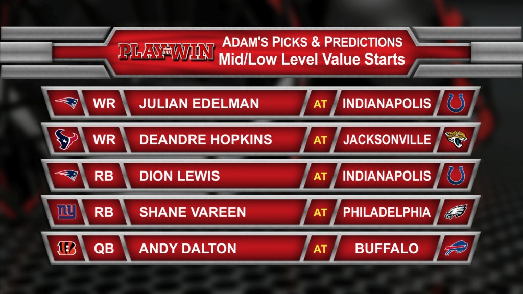 adam's picks mid-low value starts